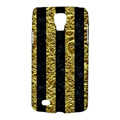 Stripes1 Black Marble & Gold Foil Galaxy S4 Active by trendistuff
