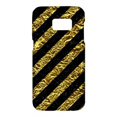 Stripes3 Black Marble & Gold Foil Samsung Galaxy S7 Hardshell Case  by trendistuff