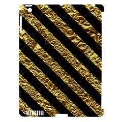 Stripes3 Black Marble & Gold Foil (r) Apple Ipad 3/4 Hardshell Case (compatible With Smart Cover) by trendistuff
