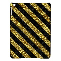 Stripes3 Black Marble & Gold Foil (r) Ipad Air Hardshell Cases by trendistuff