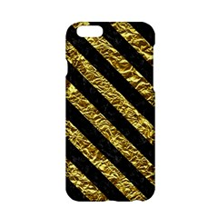 Stripes3 Black Marble & Gold Foil (r) Apple Iphone 6/6s Hardshell Case by trendistuff
