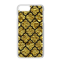 Tile1 Black Marble & Gold Foil (r) Apple Iphone 7 Plus White Seamless Case by trendistuff