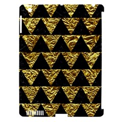 Triangle2 Black Marble & Gold Foil Apple Ipad 3/4 Hardshell Case (compatible With Smart Cover) by trendistuff