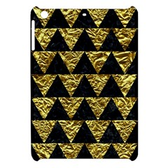 Triangle2 Black Marble & Gold Foil Apple Ipad Mini Hardshell Case by trendistuff