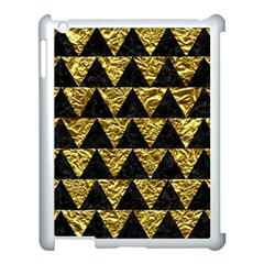 Triangle2 Black Marble & Gold Foil Apple Ipad 3/4 Case (white) by trendistuff
