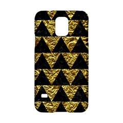 Triangle2 Black Marble & Gold Foil Samsung Galaxy S5 Hardshell Case  by trendistuff