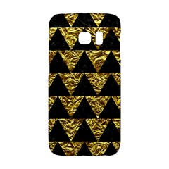 Triangle2 Black Marble & Gold Foil Galaxy S6 Edge by trendistuff