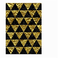 Triangle3 Black Marble & Gold Foil Large Garden Flag (two Sides) by trendistuff