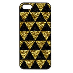 Triangle3 Black Marble & Gold Foil Apple Iphone 5 Seamless Case (black) by trendistuff