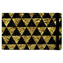 Triangle3 Black Marble & Gold Foil Apple Ipad 2 Flip Case by trendistuff