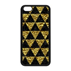 Triangle3 Black Marble & Gold Foil Apple Iphone 5c Seamless Case (black) by trendistuff