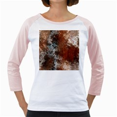 Marbled Structure 4c Girly Raglans by MoreColorsinLife