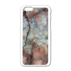Marbled Structure 5a2 Apple Iphone 6/6s White Enamel Case by MoreColorsinLife