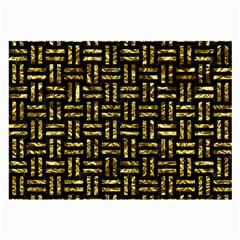 Woven1 Black Marble & Gold Foil Large Glasses Cloth (2 Side) by trendistuff