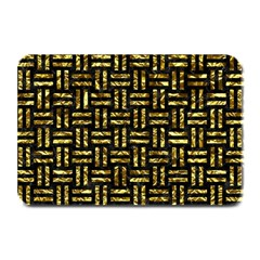 Woven1 Black Marble & Gold Foil Plate Mats by trendistuff