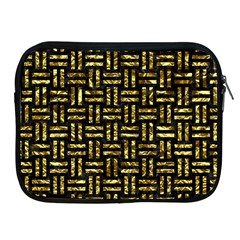 Woven1 Black Marble & Gold Foil Apple Ipad 2/3/4 Zipper Cases by trendistuff