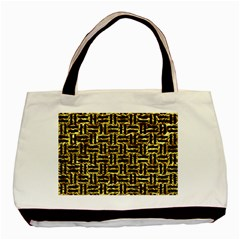 Woven1 Black Marble & Gold Foil (r) Basic Tote Bag by trendistuff