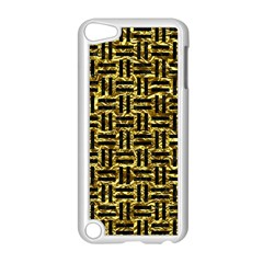 Woven1 Black Marble & Gold Foil (r) Apple Ipod Touch 5 Case (white) by trendistuff