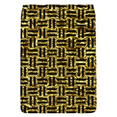 Woven1 Black Marble & Gold Foil (r) Flap Covers (s)  by trendistuff