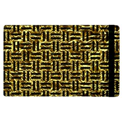 Woven1 Black Marble & Gold Foil (r) Apple Ipad Pro 12 9   Flip Case by trendistuff