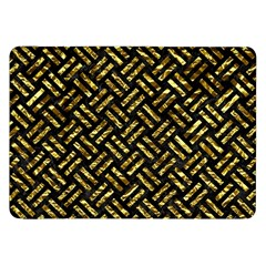 Woven2 Black Marble & Gold Foil Samsung Galaxy Tab 8 9  P7300 Flip Case by trendistuff
