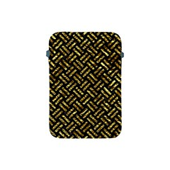 Woven2 Black Marble & Gold Foil Apple Ipad Mini Protective Soft Cases by trendistuff