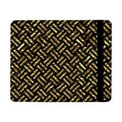 Woven2 Black Marble & Gold Foil Samsung Galaxy Tab Pro 8 4  Flip Case by trendistuff