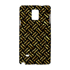 Woven2 Black Marble & Gold Foil Samsung Galaxy Note 4 Hardshell Case by trendistuff
