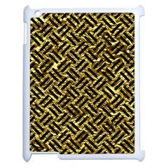 Woven2 Black Marble & Gold Foil (r) Apple Ipad 2 Case (white) by trendistuff