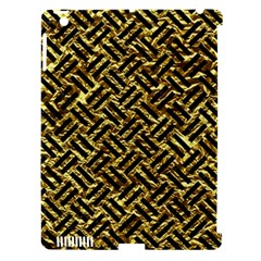 Woven2 Black Marble & Gold Foil (r) Apple Ipad 3/4 Hardshell Case (compatible With Smart Cover) by trendistuff