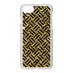 Woven2 Black Marble & Gold Foil (r) Apple Iphone 7 Seamless Case (white) by trendistuff