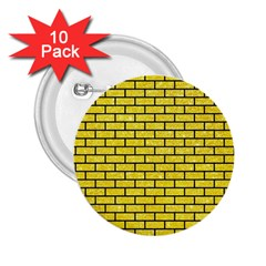 Brick1 Black Marble & Gold Glitter (r) 2 25  Buttons (10 Pack)