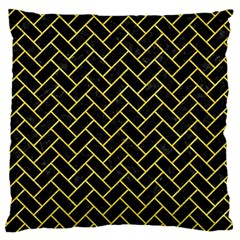 Brick2 Black Marble & Gold Glitter Large Cushion Case (two Sides) by trendistuff