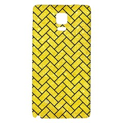 Brick2 Black Marble & Gold Glitter (r) Galaxy Note 4 Back Case by trendistuff