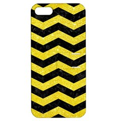 Chevron3 Black Marble & Gold Glitter Apple Iphone 5 Hardshell Case With Stand by trendistuff
