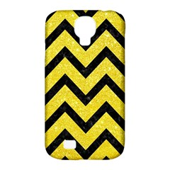Chevron9 Black Marble & Gold Glitter (r) Samsung Galaxy S4 Classic Hardshell Case (pc+silicone) by trendistuff