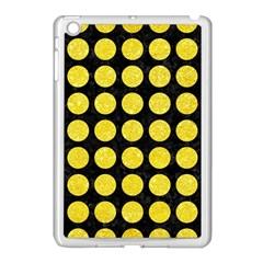 Circles1 Black Marble & Gold Glitter Apple Ipad Mini Case (white) by trendistuff