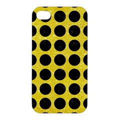 Circles1 Black Marble & Gold Glitter (r) Apple Iphone 4/4s Hardshell Case by trendistuff