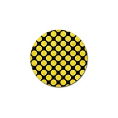 Circles2 Black Marble & Gold Glitter Golf Ball Marker (10 Pack) by trendistuff