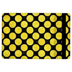 Circles2 Black Marble & Gold Glitter Ipad Air 2 Flip by trendistuff
