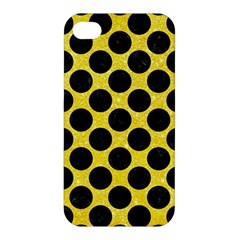 Circles2 Black Marble & Gold Glitter (r) Apple Iphone 4/4s Hardshell Case by trendistuff