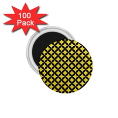 Circles3 Black Marble & Gold Glitter (r) 1 75  Magnets (100 Pack)  by trendistuff