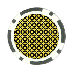 Circles3 Black Marble & Gold Glitter (r) Poker Chip Card Guard (10 Pack) by trendistuff