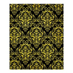 Damask1 Black Marble & Gold Glitter Shower Curtain 60  X 72  (medium)  by trendistuff
