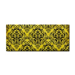 Damask1 Black Marble & Gold Glitter (r) Cosmetic Storage Cases by trendistuff