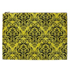 Damask1 Black Marble & Gold Glitter (r) Cosmetic Bag (xxl)  by trendistuff