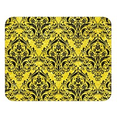 Damask1 Black Marble & Gold Glitter (r) Double Sided Flano Blanket (large)  by trendistuff