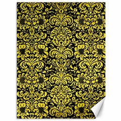 Damask2 Black Marble & Gold Glitter Canvas 36  X 48   by trendistuff