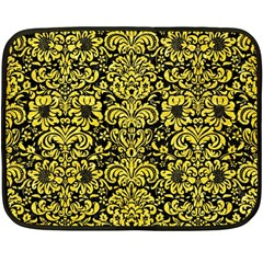 Damask2 Black Marble & Gold Glitter Double Sided Fleece Blanket (mini)  by trendistuff