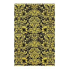 Damask2 Black Marble & Gold Glitter Shower Curtain 48  X 72  (small)  by trendistuff